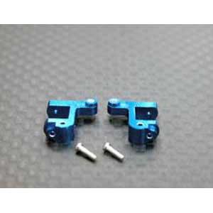 Micro-T Alloy Front C-hub With Screws (1Pr) Blue