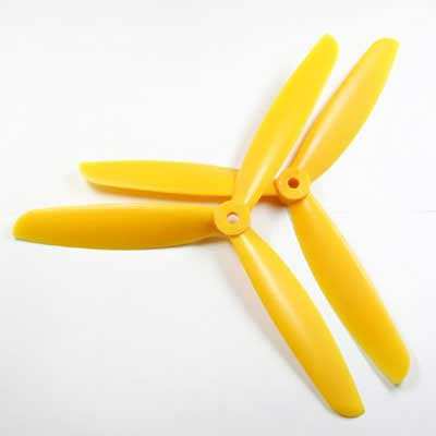 Multicopter 3Blade Propeller Set 9x4.5 Yellow