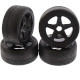 Tyres on Inferno GT 1/8 Black Wheels (4Pcs)